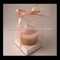 Clear PET packaging plastic cupcake box