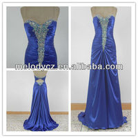 Competitive price real description royal beaded elegant one piece dress simple