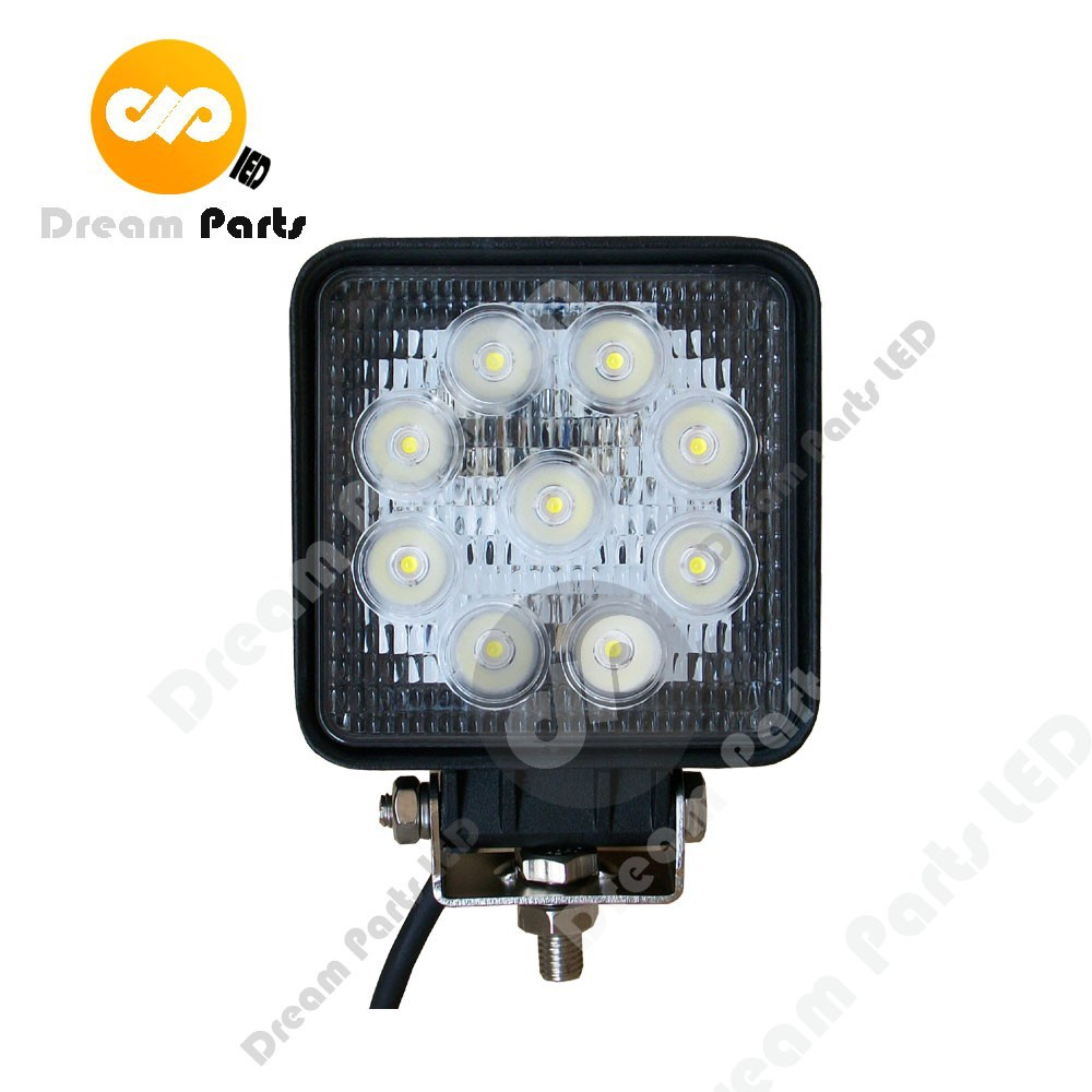 forklift excavator 27w square led light