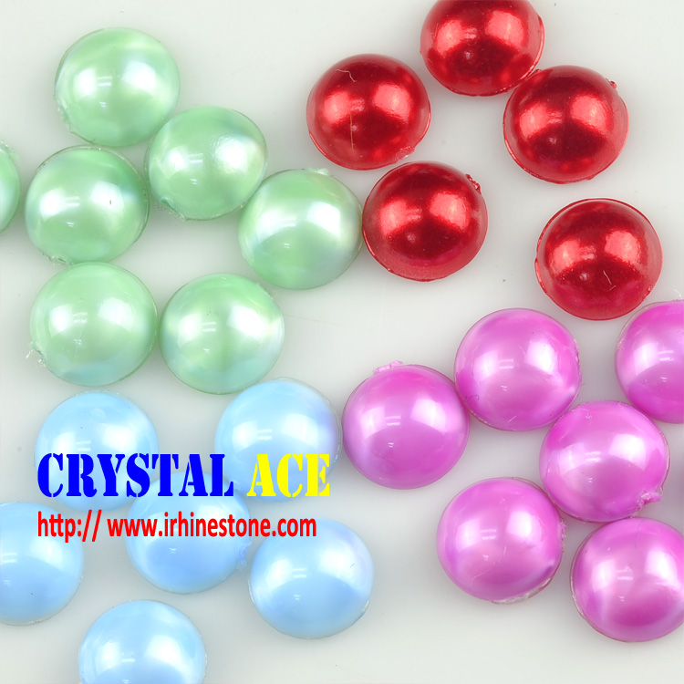 Wholesale Good quality Muticolors Hotfix Transfer Pearl,ABS Flatback Half Round Pearl,Artificial Pearls Hotfix for Wedding Dress
