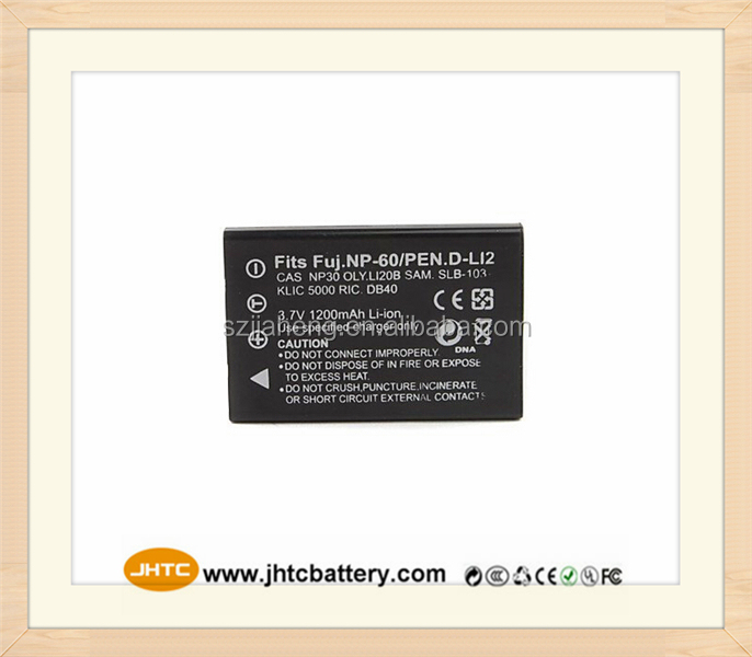 3.7V 1200mAh replacement camcorder battery pack for NP-60 For Fuji FinePix F410 F601