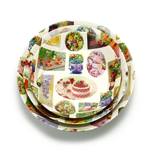 Logo printed dinnerware tableware set chocolate box with and corrugated paper plastic tray