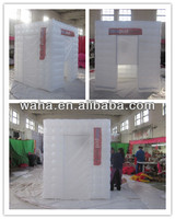 Inflatable indoor mini cube tent for display
