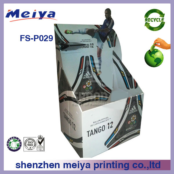 Cardboard storage box display lama for badminton,basketball, football