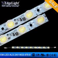 Edgelight 3535 LED aluminium profile led strip , 9 leds super bright with lens , CE/ROHS/UL listed bar light LED strip