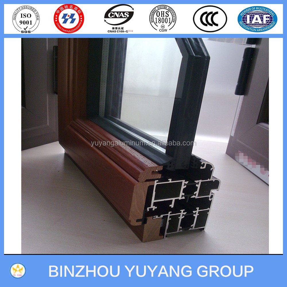 Aluminum - wood extrusion profile