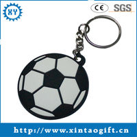 Fashional design 2013 cheap promotional football keychain distributor