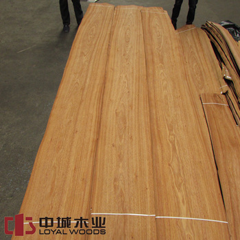 Discount price light brown color natural Grand Cashew wood veneer for furniture
