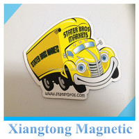 CMYK printing paper fridge magnet/refrigerator magnet with lamination/custom die cut fridge magnet