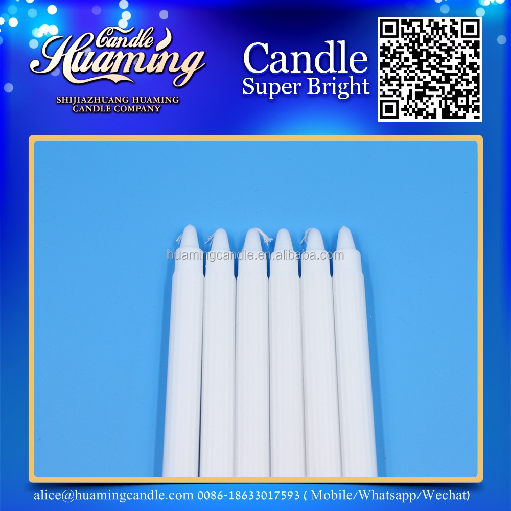 long burning white candle/white house candle----candle factory