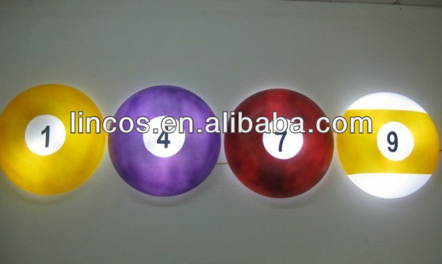 billiard ball decoration lights
