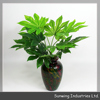 home decoration small green artificial mint leaf with fireproof test