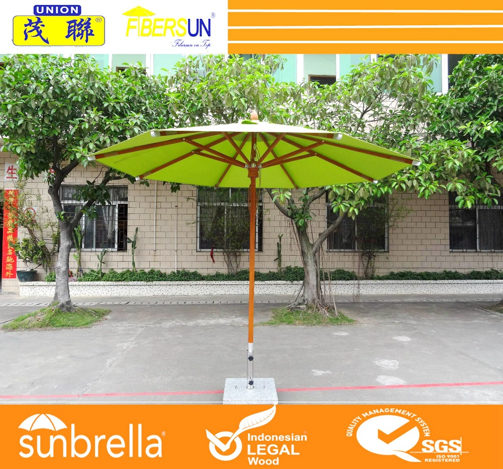 Hot sale outdoor umbrella with polyester/acrylic/olefin canopy