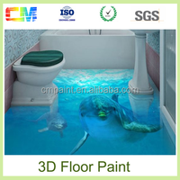 Strong Waterproof Clear Varnish Epoxy Paint Resin 3D Flooring Paint Coating