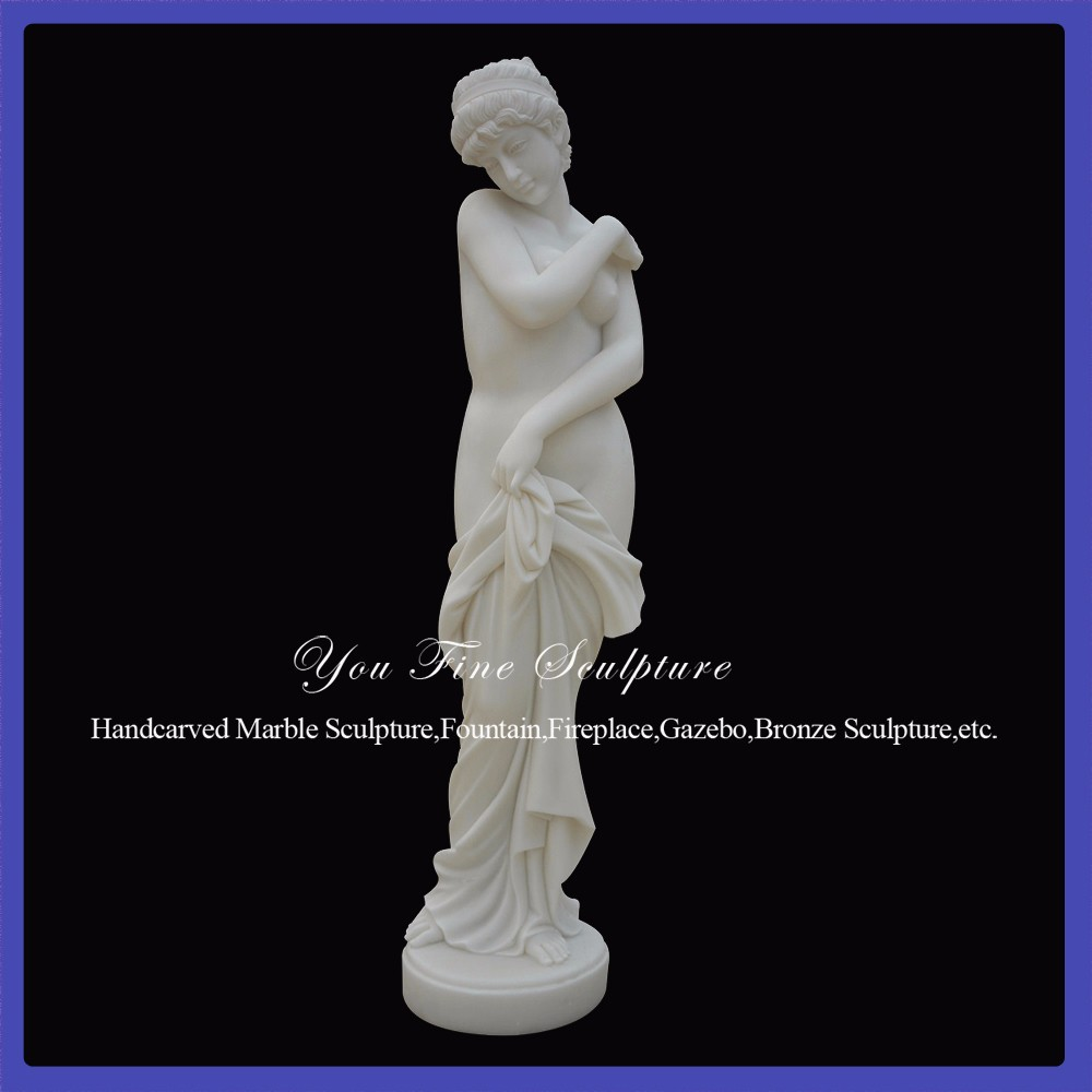 Polishing Nude Woman Carving White Best Marble Sculptures