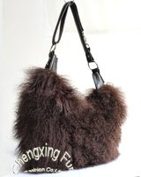 CX-H-14A Genuine Mongolian Sheep Fur Shoulder Bag