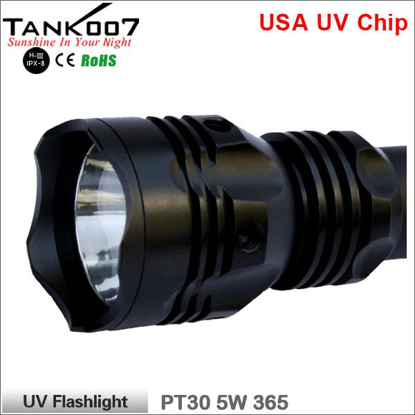 uv torch 365nm 5w High Power Rechargeable UV LED Flashlight