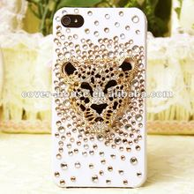 crystal Rhinestone case for iPhone4 4s, lion design.