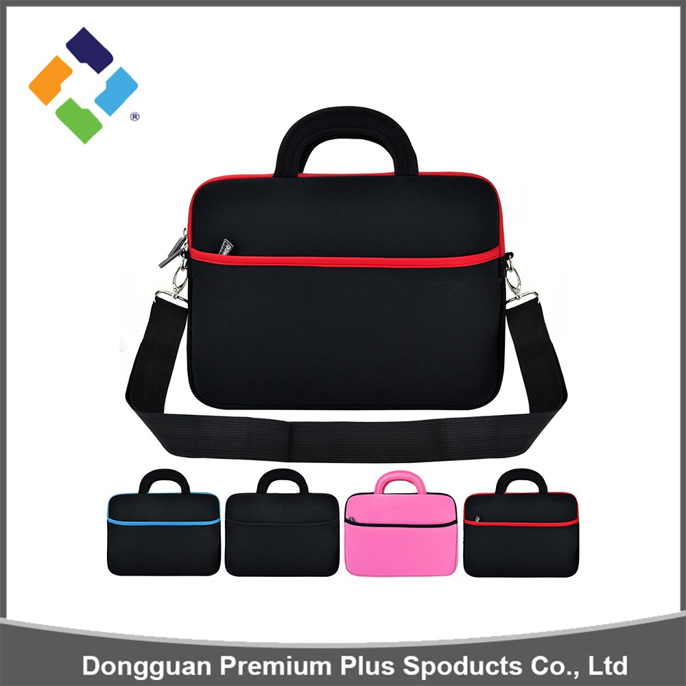 2016 China manufacture laptop sleeve with carry handles