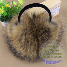 Rex Rabbit Fur Ear Muffs / Rose Flower Shape Fur Earmuff