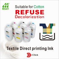 ISO9001 certification no coating need dtg ink for textile epson DX5 printer cotton pigment ink