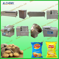stainless steel french fries production plant price/semi automatic french fries machine