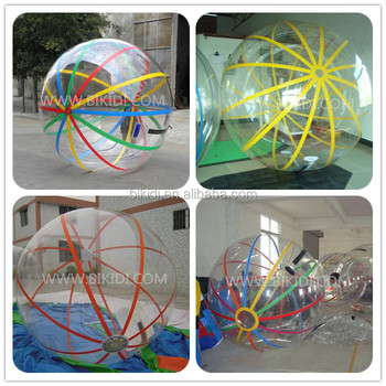 2015 best selling infltable colorful water walking ball, TPU/PVC water ball D1010