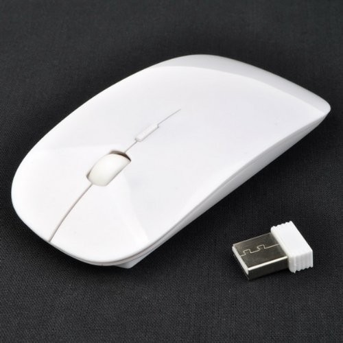 50PCS/a lot Online Selling Ultra Thin USB Optical Wireless Mouse 2.4G Receiver Super Slim Mouse