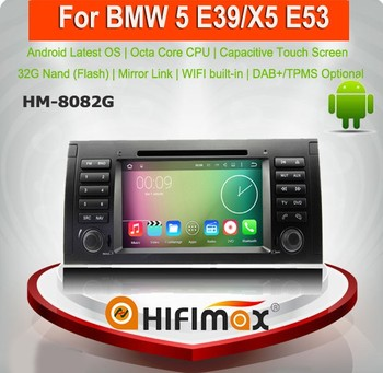 "HIFIMAX 9"" Touch Screen DVD Car Audio Navigation System For BMW M5/E39/X5/E53 Android 7.1 Car DVD Bluetooth"