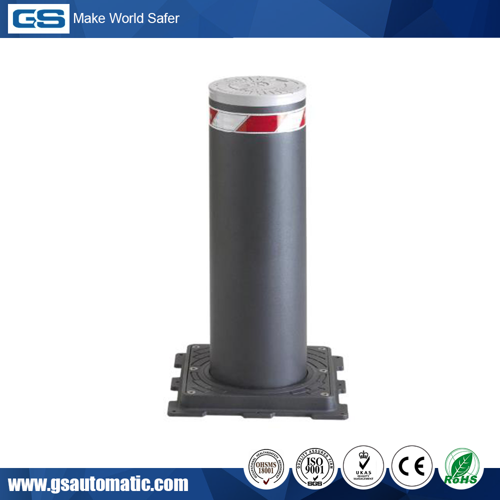 Robust High security Automatic Rising Bollard with Flashing Lights