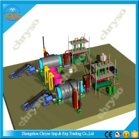 5-12T tyre pyrolysis machine that use best material and with ISO,CE and BV