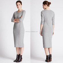 New Fashion Custom Women Girls Sexy Image Tight Cosy Tube 3/4 Sleeve Midi Dress Wholesale Custom Manufacturer Casual Dresses