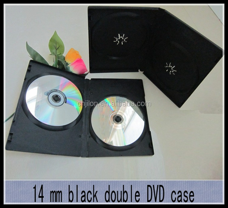 Double/single 14MM BLACK DVD CASE/DVD BOX/DVD COVER