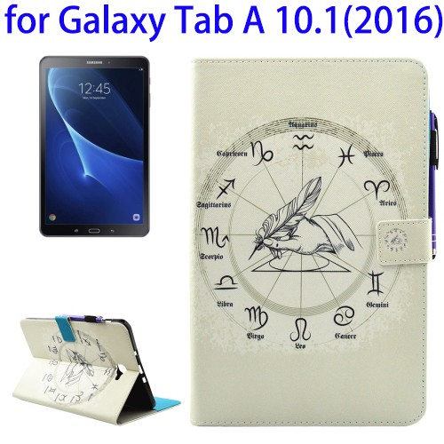 China Mobile Phone Cases for Samsung Galaxy Tab A 10.1 (2016) / T580 with Holder & Wallet