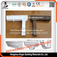 Customized Color Valley PVC rain water gutter collector drainage/gutter and downspout