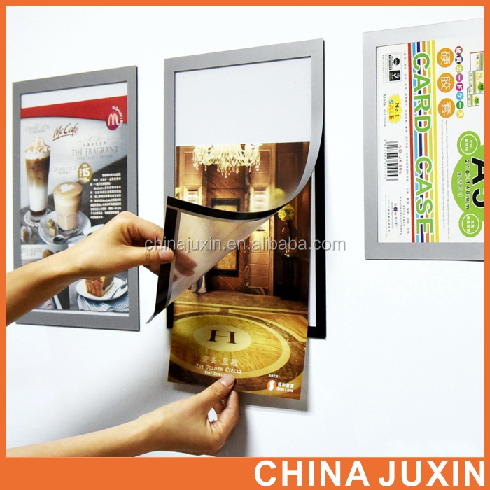 multi-function magnetic A4 Clear wall mount plastic sign holder frame