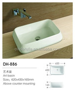 Bathroom ceramic hand wash small size laboratory basins