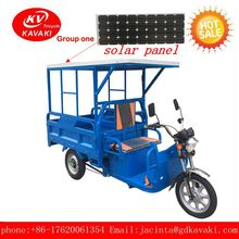 Open Motor Tricycle Bajaj Electric Three Wheel Trike Tricycle For Cargo With Solar Panels