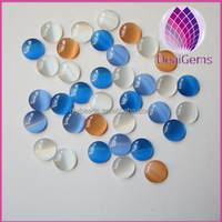 cat's eye flat back glass beads for DIY jewelry