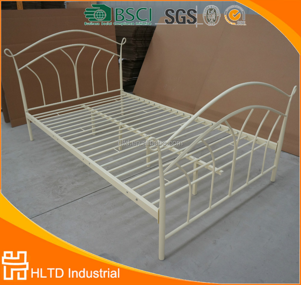 Bedroom furniture double bed design metal bed for kids for Double cot designs