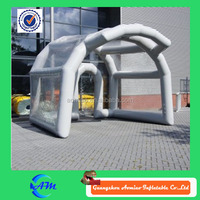 PVC customized inflatable clear tent, inflatable tent hangar for sale