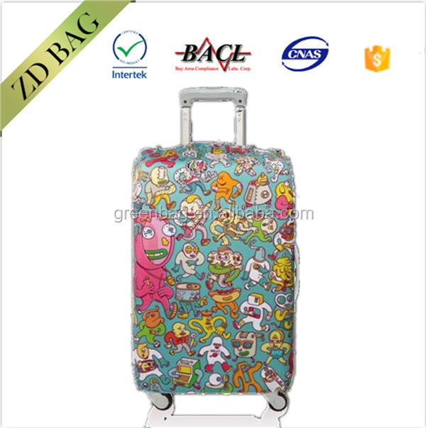 sublimation custom any logo and material polyester plastic protective luggage cover