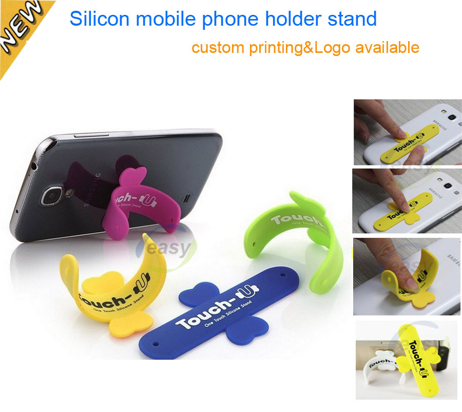 Touch-U One-touch Silicone Phone Holder Stand for mobile phone