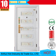 Unique Home Designs Hot Sale White Primer Steel Security Door White Metal Door For Room