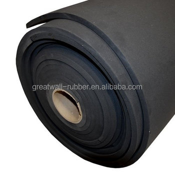 black color partial EPDM rubber sponge sheet