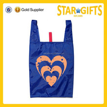 Anhui Factory Wholesale T-shirt type polyester tote cheap shopping bag