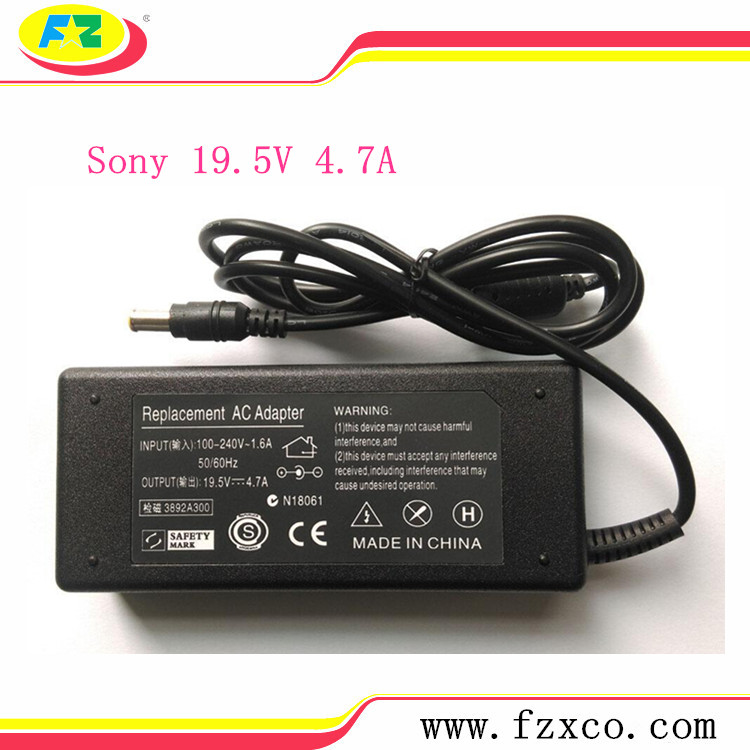 Quality 19.5V 4.7A 90W Laptop AC Power Supply for Sony