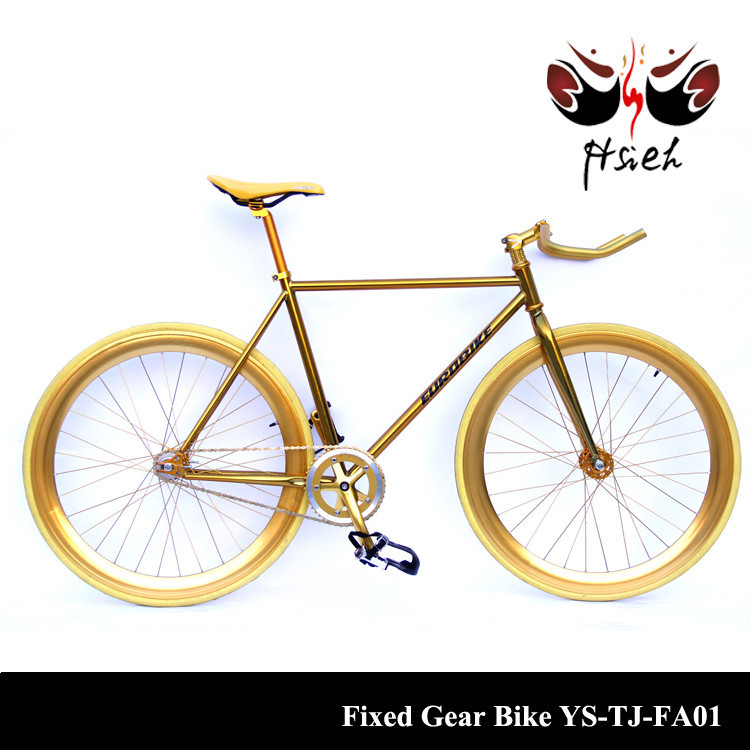 Classical design Aluminium Anodized fixed gear bicycle with single speed bike for wholesale
