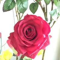 artificial roses anti-UV real touch single rose High Quality artificial flowers roses