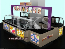 Shopping mall custom made ice cream kiosk and 3D ice cream kiosk design to Portugal